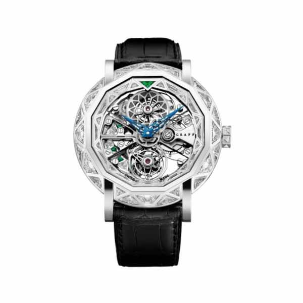 GRAFF ULTRA FLAT TOURBILLON 48MM 18K WHITE GOLD MEN'S WATCH