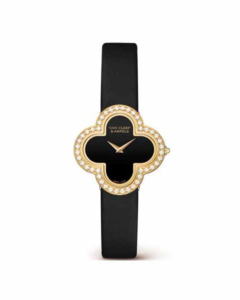 VAN CLEEF & ARPELS MEDIUM MODEL 18K YELLOW GOLD LADIES WATCH