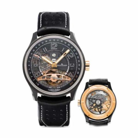 JAEGER LECOULTRE TOURBILLON RETRO DATE LIMITED EDITION 300 PCS 44MM CERAMIC MEN'S WATCH