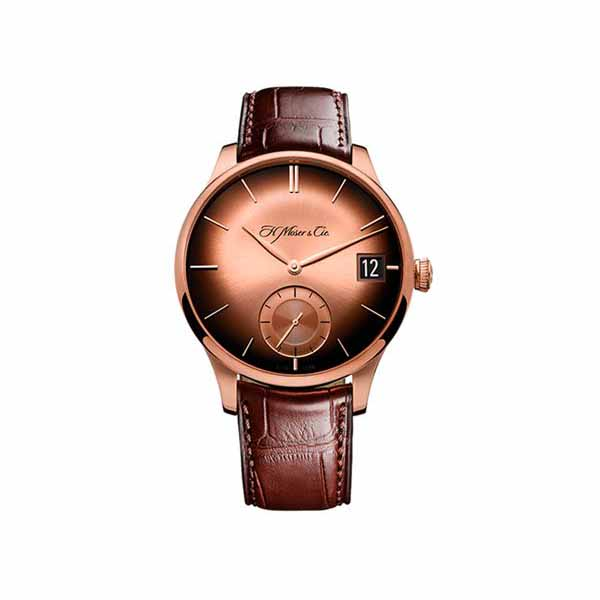 H. MOSER & CIE 41.5MM 18K ROSE GOLD MEN'S WATCH