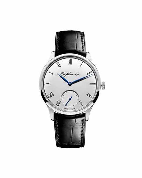 H. MOSER & CIE 39MM 18K WHITE GOLD MEN'S WATCH