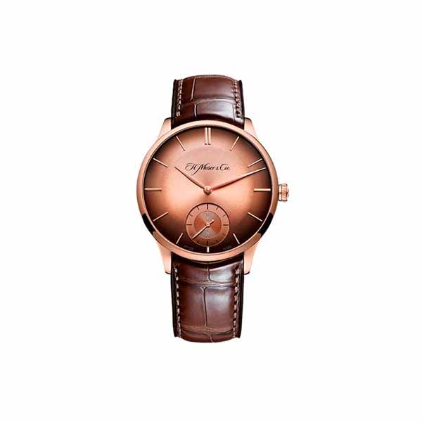 H. MOSER & CIE 39MM 18K ROSE GOLD MEN'S WATCH