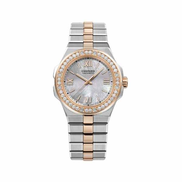CHOPARD ALPINE EAGLE 36MM STAINLESS STEEL & 18K ROSE GOLD LADIES WATCH