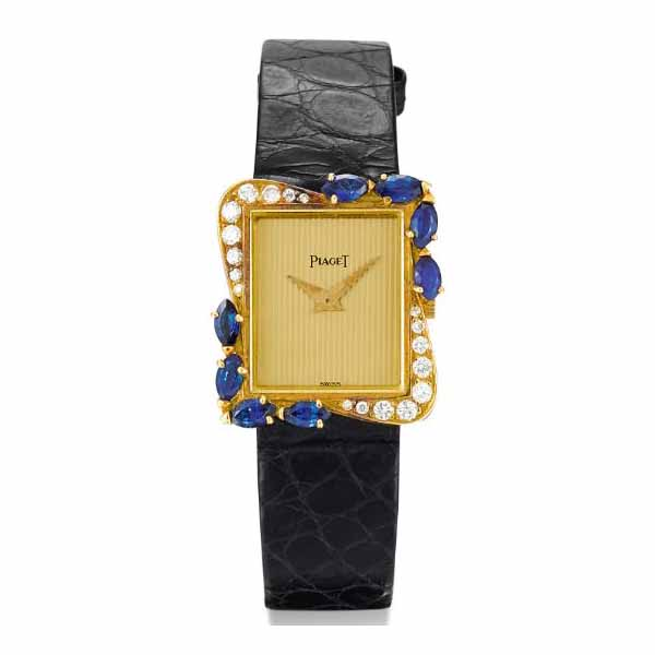 PIAGET 23MM X 19MM 18K YELLOW GOLD LADIES  WATCH
