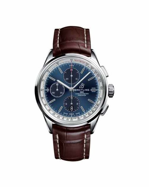 BREITLING PREMIER CHRONOGRAPH 42MM POLISHED STAINLESS STEEL MEN'S WATCH