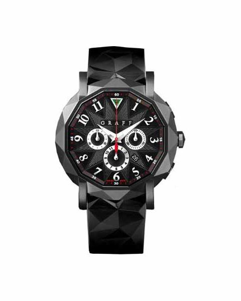 GRAFF CHRONOGRAFF 42MM BLACK STEEL PVD MEN'S WATCH