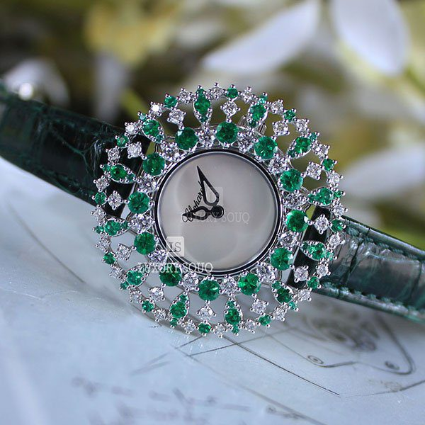 Chopard Pre-owned L'heure Diamant Green Emerald Diamonds Ladies' Watch