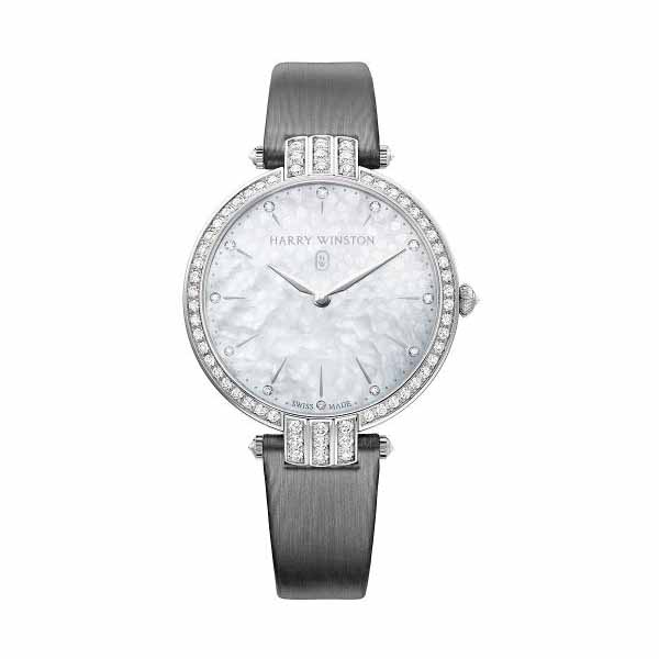 Harry Winston Pre-owned Premier 36mm 18k White Gold Ladies Watch