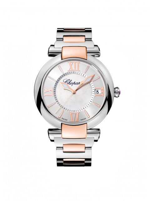CHOPARD IMPERIALE 40MM STAINLESS STEEL & 18K ROSE GOLD LADIES WATCH