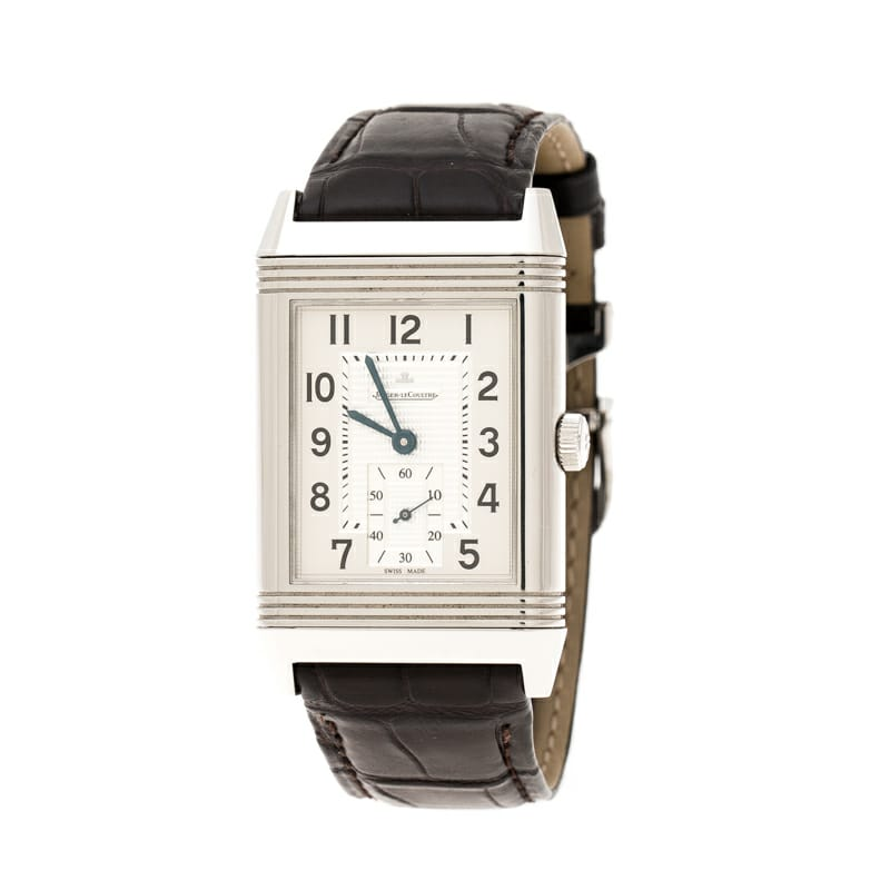 JAEGER LECOULTRE GRANDE REVERSO 30MM STAINLESS STEEL MEN'S WATCH