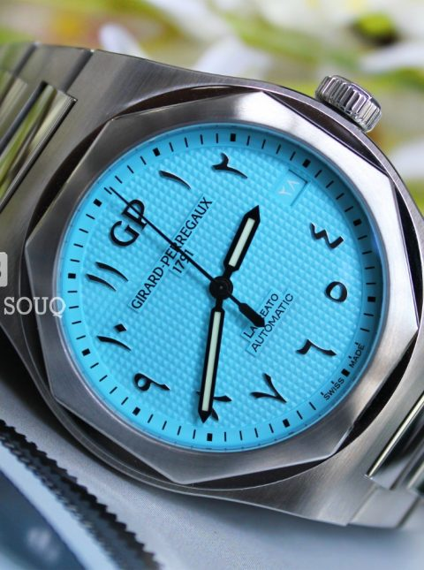 GIRARD PERREGAUX LAUREATO SKY BLUE ARABIC DIAL LIMITED EDITION 42MM STAINLESS STEEL MEN'S WATCH