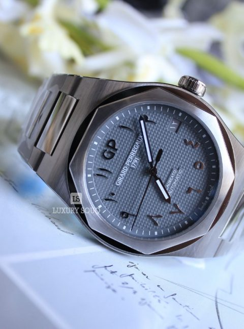 GIRARD PERREGAUX LAUREATO GREY ARABIC DIAL LIMITED EDITION 42MM STAINLESS STEEL MEN'S WATCH