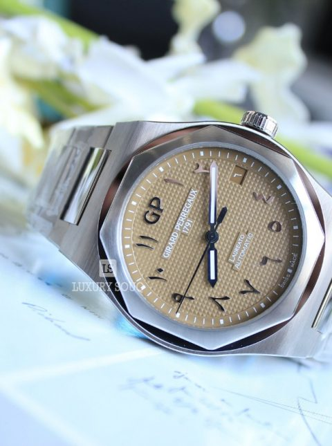 GIRARD PERREGAUX LAUREATO BROWN GOLD ARABIC DIAL LIMITED EDITION 42MM STAINLESS STEEL MEN'S WATCH