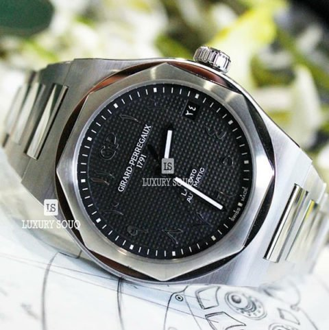 GIRARD PERREGAUX LAUREATO BLACK ARABIC DIAL LIMITED EDITION 42MM STAINLESS STEEL MEN'S WATCH