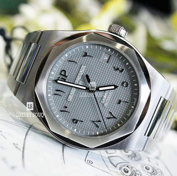 GIRARD PERREGAUX LAUREATO GREY ARABIC DIAL LIMITED EDITION 42MM STAINLESS STEEL MEN?S WATCH
