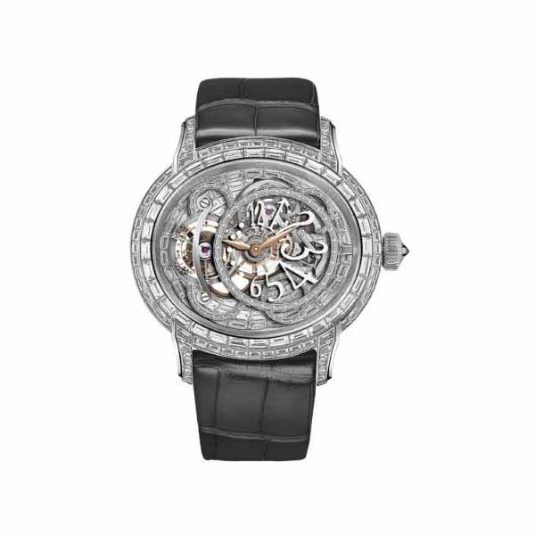AUDEMARS PIGUET MILLENARY TOURBILLON SAPPHIRE DIAL 45MM 18K WHITE GOLD MEN'S WATCH