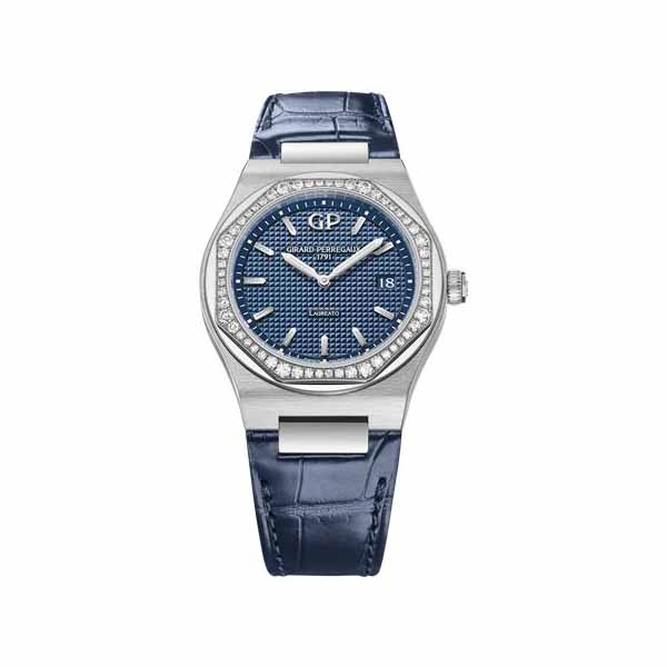 GIRARD PERREGAUX LAUREATO 34MM STAINLESS STEEL LADIES WATCH REF. 80189D11A431-CB6A