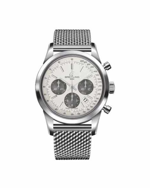 BREITLING TRANSOCEAN CHRONOGRAPH 43MM STAINLESS STEEL MEN'S WATCH