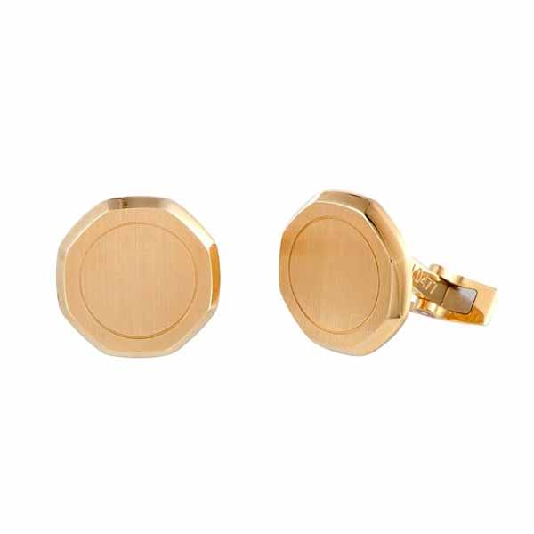 AUDEMARS PIGUET ROYAL OAK 18K YELLOW GOLD OCTAGONAL CUFFLINKS