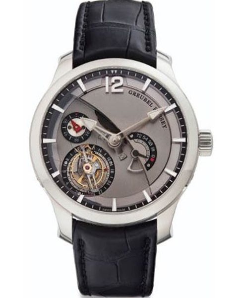 GREUBEL FORSEY TOURBILLON 24 SECONDES CONTEMPORAIN 44MM 18K WHITE GOLD MEN'S WATCH