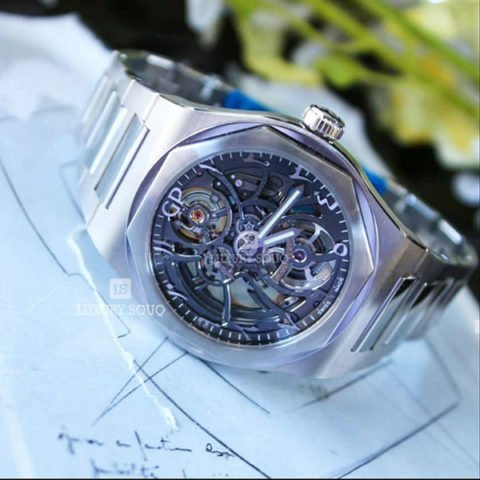 GIRARD PERREGAUX LAUREATO SKELETON ARABIC DIAL 42MM STAINLESS STEEL MEN'S WATCH