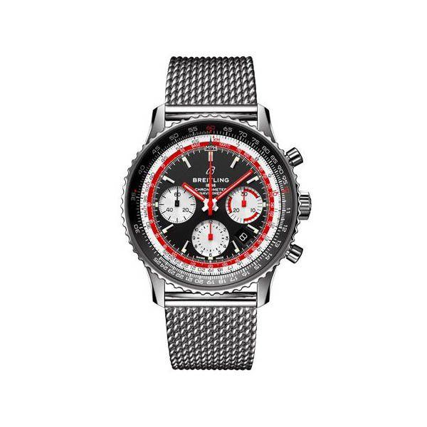 BREITLING NAVITIMER 1 B01 CHRONOGRAPH 43MM STAINLESS STEEL MEN'S WATCH SPECIAL EDITION REF. AB01211B1B1A