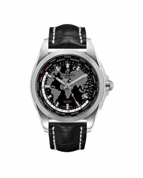BREITLING GALACTIC UNITIME 44MM STAINLESS STEEL MEN'S WATCH