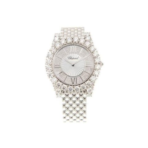 CHOPARD L'HEURE 18KT WHITE GOLD 40MM LADIES WATCH