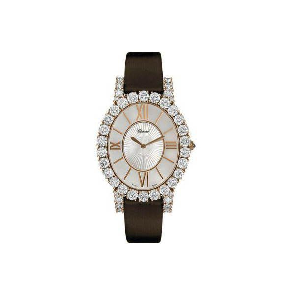 CHOPARD L'HEURE DU DIAMOND 34.1MM X 40MM 18K ROSE GOLD LADIES WATCH