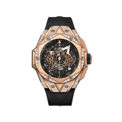 HUBLOT BIG BANG UNICO SANG BLEU II 45MM 18K ROSE GOLD MEN'S WATCH