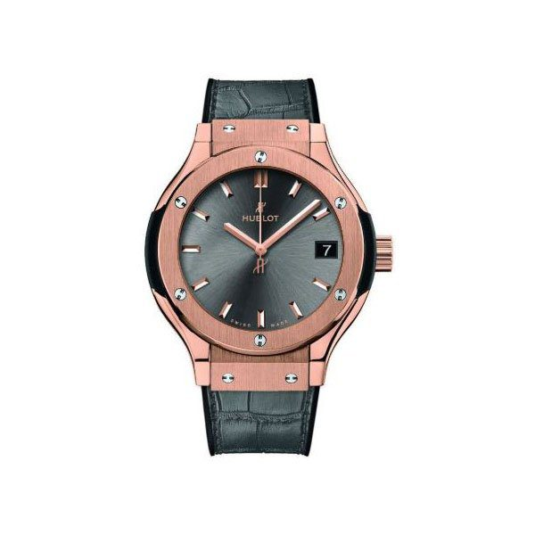 HUBLOT CLASSIC FUSION 33MM 18K ROSE GOLD LADIES WATCH