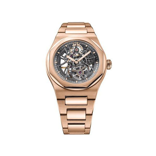 GIRARD PERREGAUX LAUREATO SKELETON 42MM 18K ROSE GOLD MEN'S WATCH