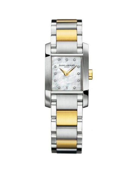 BAUME & MERCIER DIAMANT TWO TONE DIAMOND 33MM X 22MM LADIES WATCH