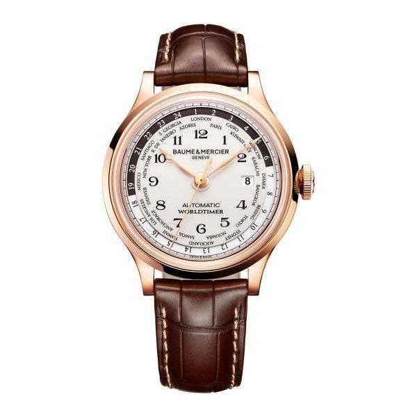 BAUME & MERCIER CAPELAND 44MM 18K ROSE GOLD MEN'S WATCH
