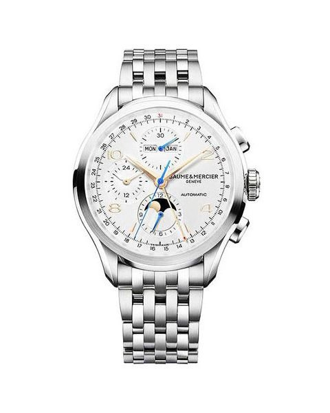 BAUME & MERCIER CLIFTON CORE CHRONO 43MM STAINLESS STEEL MEN'S WATCH
