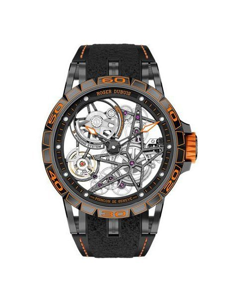 ROGER DUBUIS EXCALIBUR SPIDER PIRELLI LIMITED EDITION OF 88 PIECES 45MM TITANIUM MEN'S WATCH