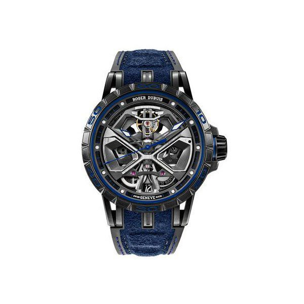 ROGER DUBUIS EXCALIBUR SPIDER LAMBORGHINI HURACAN 45MM TITANIUM MEN'S WATCH