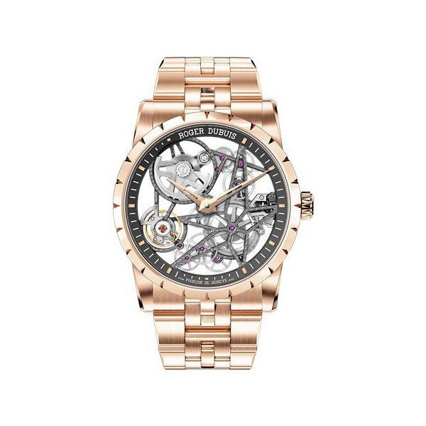 ROGER DUBUIS EXCALIBUR 42MM 18K ROSE GOLD MEN'S WATCH