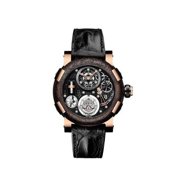 ROMAIN JEROME STEAMPUNK TOURBILLON LIMITED EDITION OF 25 PIECES 50MM 18K ROSE GOLD MEN'S WATCH