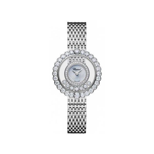 CHOPARD HAPPY DIAMONDS 26MM 18K WHITE GOLD LADIES WATCH