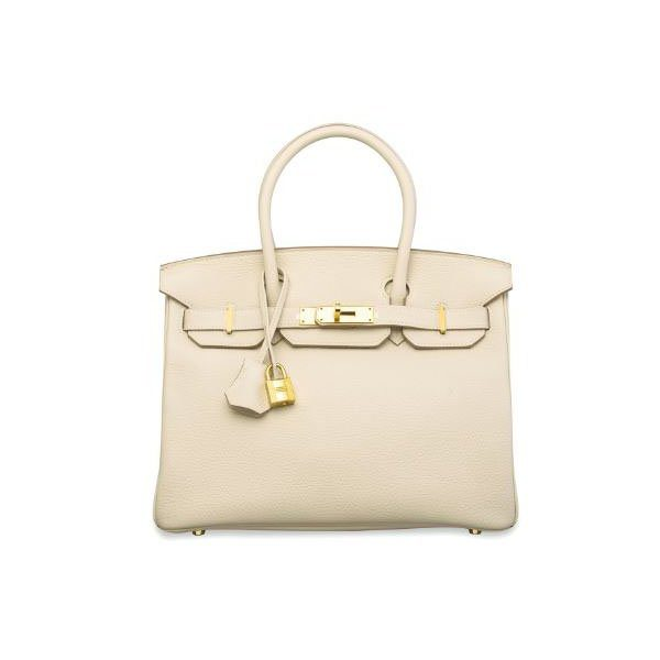 HERMES BIRKIN 30 CRAIE TOGO LEATHER GOLD HW HANDBAG