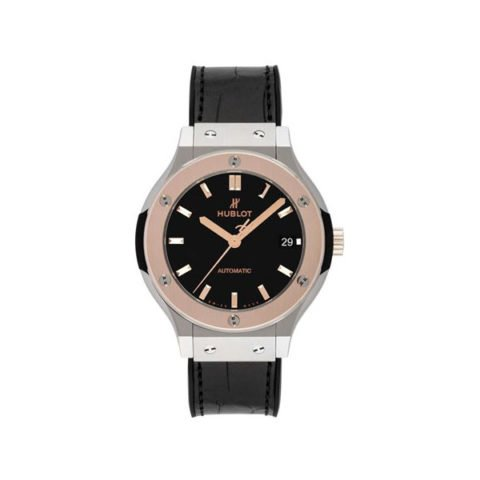 HUBLOT CLASSIC FUSION 38MM TITANIUM & 18K ROSE GOLD MEN'S WATCH