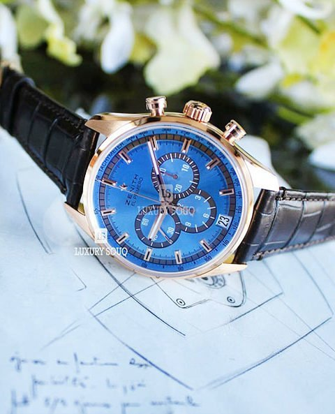 Zenith Pre-owned  El Primero Limited Edition Of 50 Pieces 42mm 18k Rose Gold Men's Watch