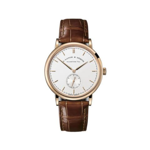 A LANGE & SOHNE SAXONIA 37MM 18K ROSE GOLD MEN'S WATCH