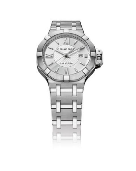 CONCORD SARATOGA STAINLESS STEEL WITH SILVER DIAL 31MM LADIES WATCH