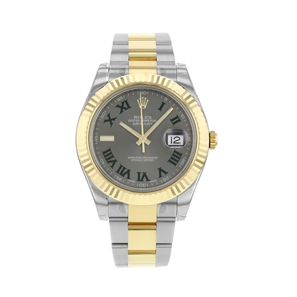 ROLEX NEW DATEJUST II 41MM STEEL GOLD GREEN