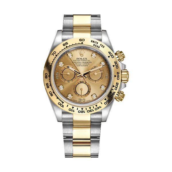 PROFESSIONAL ROLEX COSMOGRAPH DAYTONA STEEL AND GOLD MEN'S WATCH