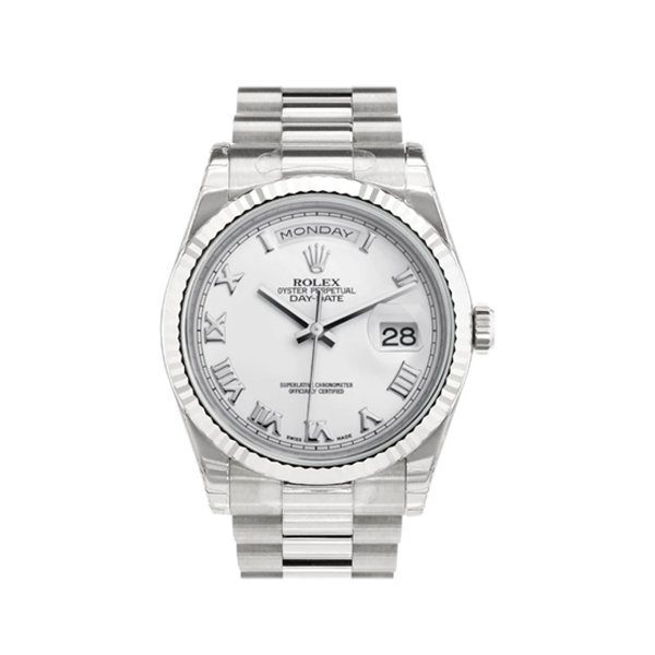 ROLEX PRESIDENT DAY-DATE WHITE GOLD MEN'S WATCH