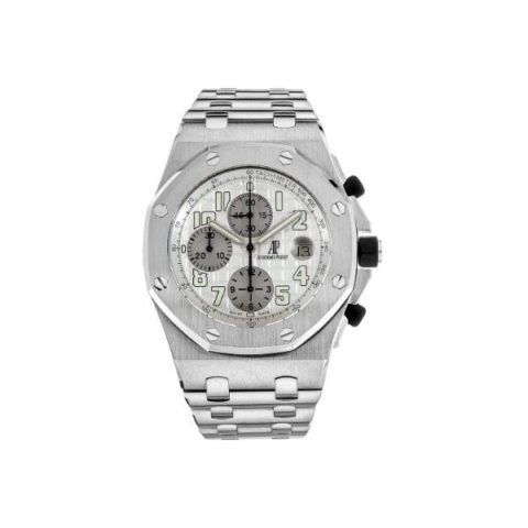 AUDEMARS PIGUET ROYAL OAK OFFSHORE CHRONOGRAPH SILVER DIAL WATCH