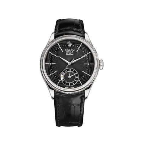 ROLEX CELLINI DUAL TIME 39MM MEN'S WATCH